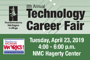 IT, Welding, Engineering Technology & Visual Communications industries are invited to attend the Technology Career Fair, Tuesday, April 23, 2019